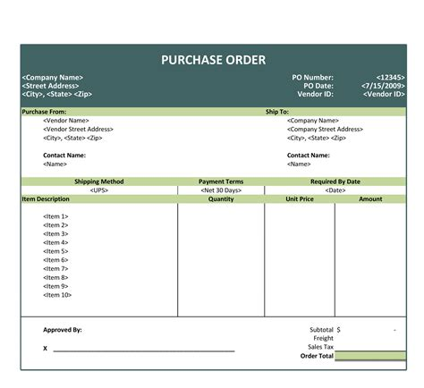 excel templates microsoft purchase order template excel