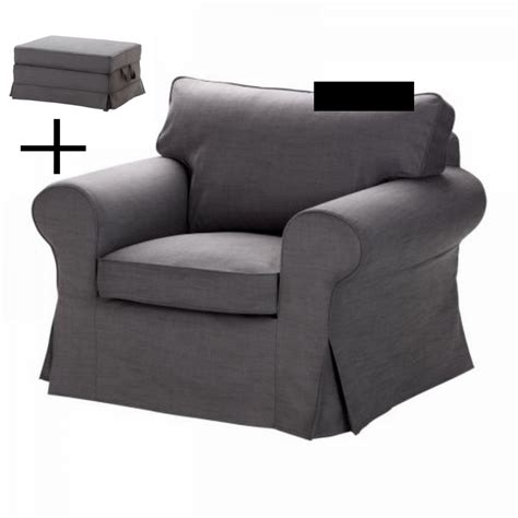 grey chair and ottoman ikea ektorp armchair and bromma footstool cover chair