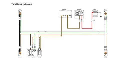 indicators section of the simplified wiring diagram for xs400 motorcycle wiring diagrams
