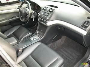 Ebony Interior 2008 Acura Tsx Sedan Photo  37994765