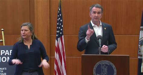virginia governor northam issues stay  home order