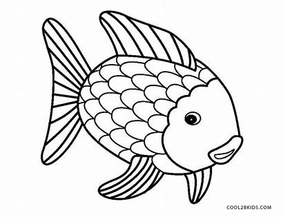 Coloring Pages Fish Rainbow Animal Cool2bkids