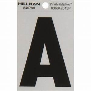 the hillman group 3 in vinyl reflective letter a 840798 With home depot vinyl letters