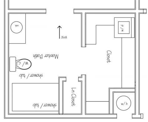 Master Bedroom Bath Closet Layout by Bath Closet Laundry Area New Layout Master Bedroom