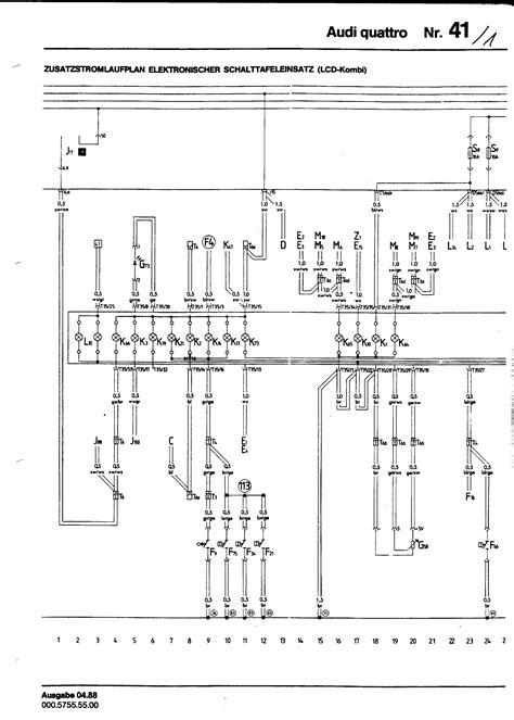 audi ur quattro mb engine electrical component locator