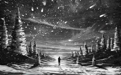 Black And White Snow Wallpaper 45 Images