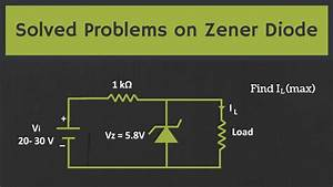Solved Problems On The Zener Diode