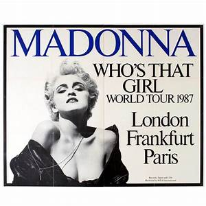 Who S Perfect Frankfurt : original vintage 1987 queen of pop music tour poster madonna who 39 s that girl for sale at 1stdibs ~ Watch28wear.com Haus und Dekorationen