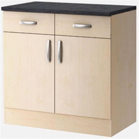 meuble bas cuisine 100 cm meuble bas 2 portes paprika erable 100 cm lestendances fr