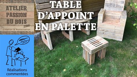 realiser  salon de jardin en palette une petite table youtube