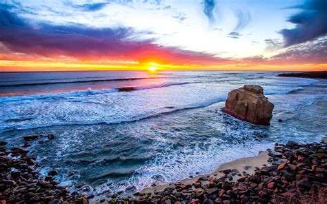 San Diego Beach Sunset Wallpapers Dema Domestic