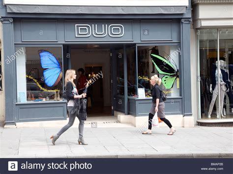 Duo Shoe Shop, Milsom Street, Bath Stock Photo, Royalty