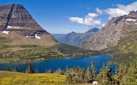 Photos: An alpine lake: Hidden Lake, Glacier National Park ...