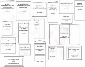 greeting card size chart how to pinterest With standard wedding invitation size uk