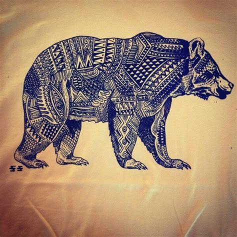 aztec bear tattoos pinterest  shape patterns