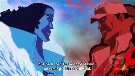 fleet admiral akainu beats aokiji   days