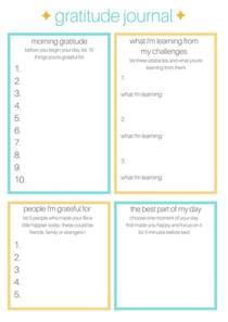 Gratitude Worksheets Printable Gratitude Journal