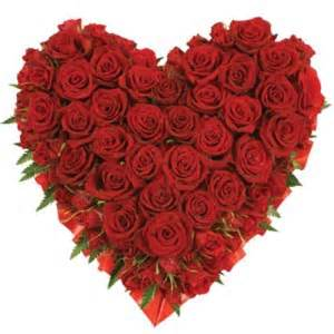 Red Heart Shaped Roses