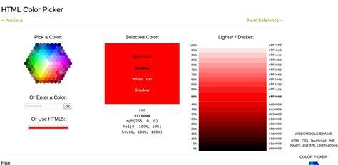 html color picker color picker