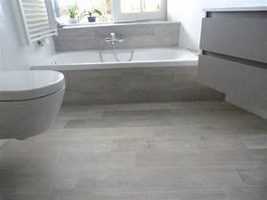 emejing salle de bain parquet gris photos amazing house With carrelage imitation parquet blanc