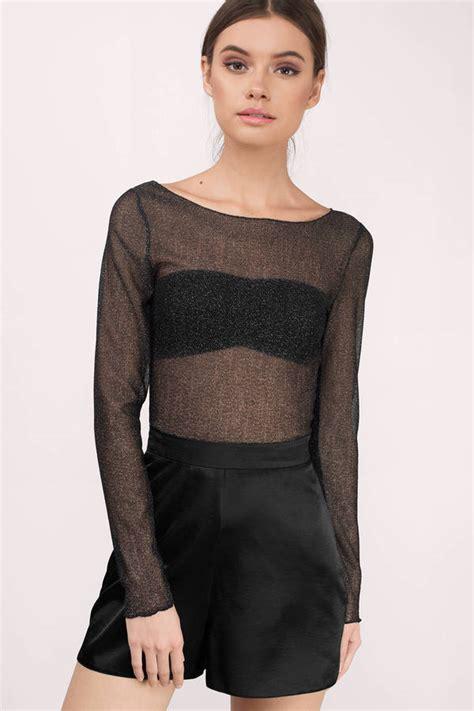 s sheer blouses trendy black blouse black blouse sheer blouse 36 00