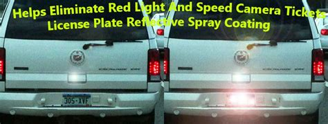 Speed Camera License Plate Cover by License Plate Spray Hides Lisence Plate From Red Light