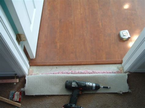 finishing carpet to laminate transition