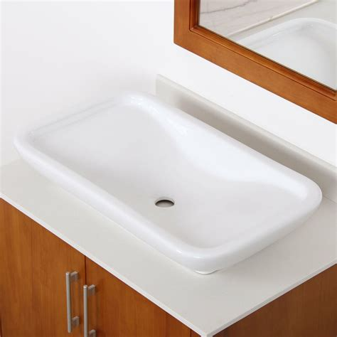 New Bathroom Sink by New Bathroom White Square Ceramic Porcelain Vessel