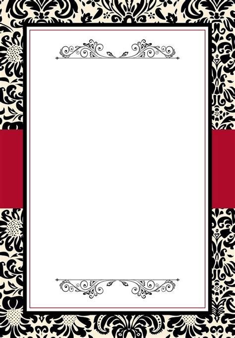 Carte De Vide A Imprimer by Carte Invitation R 233 Veillon Jour De L An Vide 224 Imprimer