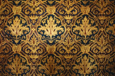 golden victorian wallpaper stock image image  medieval