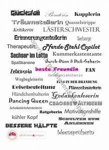 18 Geburtstag Beste Freundin : liebe freundschaft wortgewaltige karte f r die beste freundin ein designerst ck von ~ Frokenaadalensverden.com Haus und Dekorationen