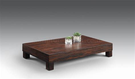 low modern coffee table zebrano finish low base contemporary coffee table