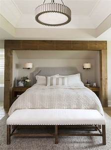 Reclaimed, Wood, Beams, Define, The, Recessed, Bed, Nook, In, This, Transitional, Master, Bedroom, By, R