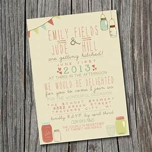wedding invitation printable custom diy wedding With quirky diy wedding invitations