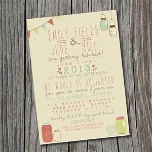 wedding invitation printable custom diy wedding With quirky diy wedding invitations