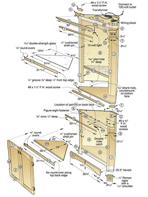 corner cabinet doors plans diy