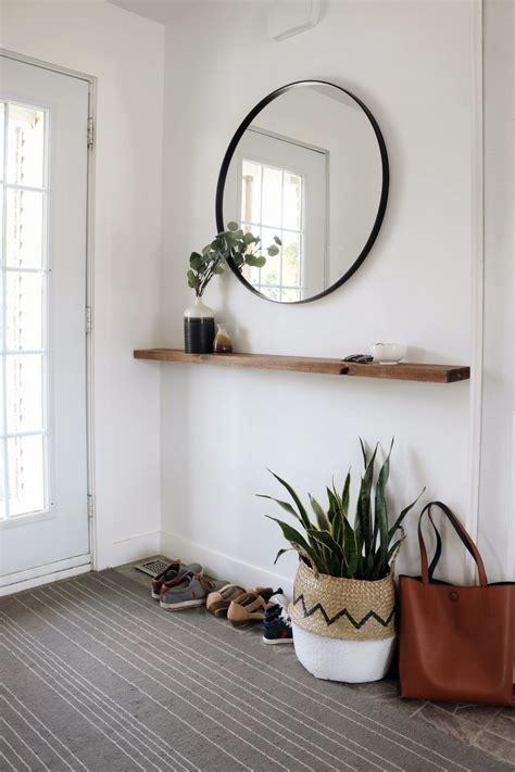 vestibule minimaliste diy tablette flottante www