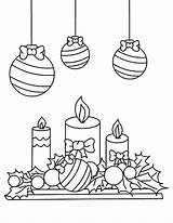 Coloring Christmas Candle Pages Mistletoe Under Printable Getcolorings Colorings sketch template