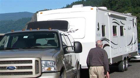 rooftop air deflector towing travel trailer ford truck