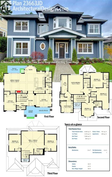 6 Bedroom House Plans by Unique 6 Bedroom Craftsman House Plans New Home Plans Design