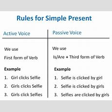 Simple Present Active Passive Voice Rules  Active Voice And Passive V
