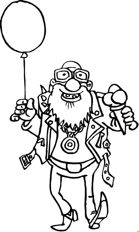 alter mann mit luftballon ausmalbild malvorlage comics