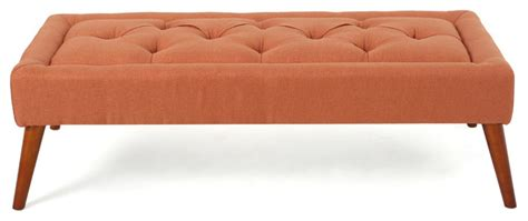 modern ottomans and benches pyram mid century modern ottoman bench contemporary