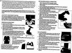 Intec G7094027080 Wireless Racing Wheel User Manual