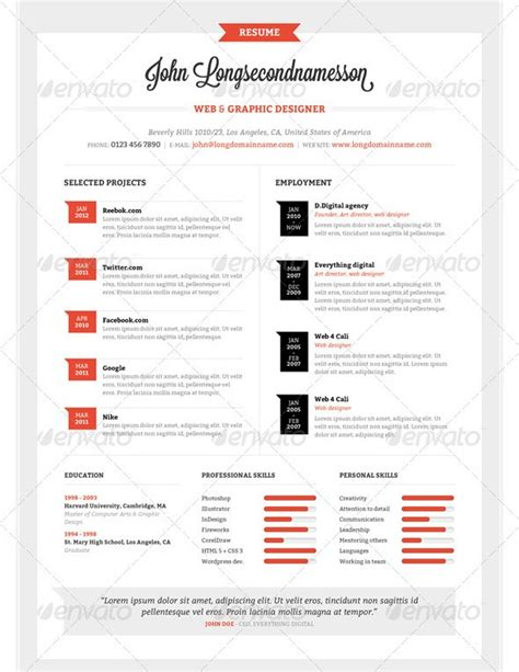 Stylish Resume Templates by 37 Stylish Resume Templates Vandelay Design