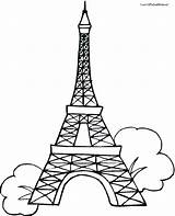 Eiffel Tower Coloring Paris Printable Outline Drawing 2d Line 3d Pencil Clock Getdrawings Template Para Clipartmag Floor Torre Tokyo Sheet sketch template