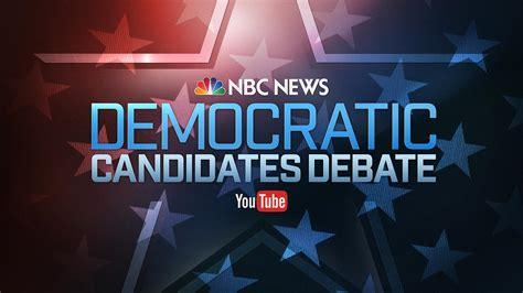 Watch Live: NBC News-YouTube Democratic Debate - NBC News