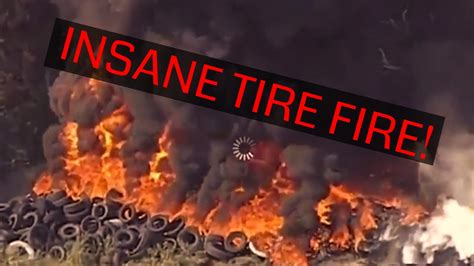 Huge Tire Fire At Yellow Belly Drag Strip