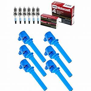 Set Of 6 High Performance Ignition Coil And Motorcraft