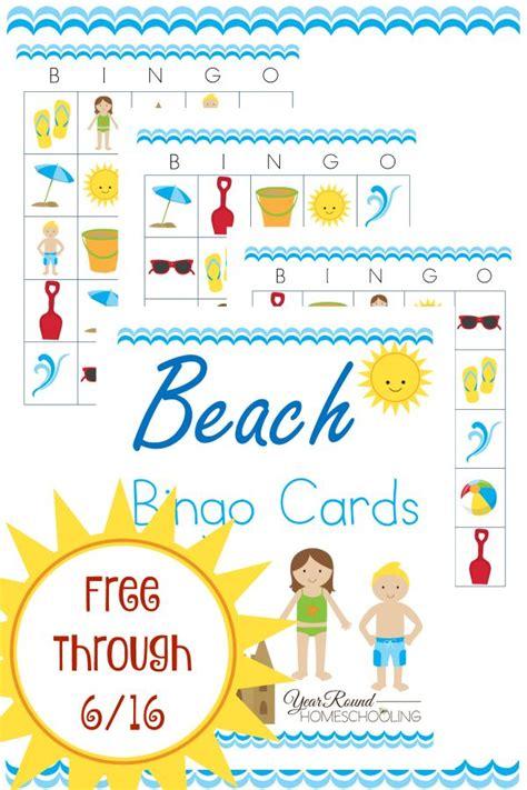 Printable Beach Bingo Cards  Free Printables  Pinterest  Beach, Homeschool And Activities